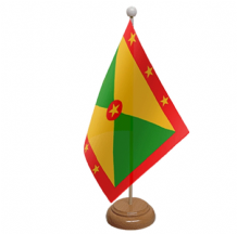 GRENADA - TABLE FLAG WITH WOODEN BASE